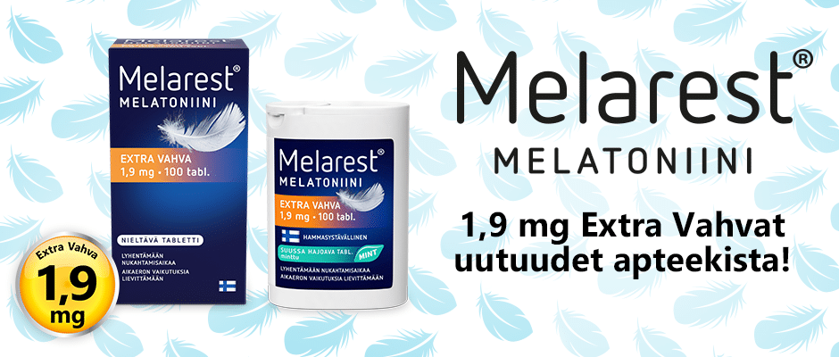 Melarest melatoniini extra vahva 1,9 mg